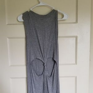 Cut out knotted sleeveless dress!